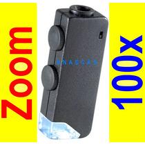 1$ Envio Microscopio S E Ocular De Zoom 60-100x Lampara Luz