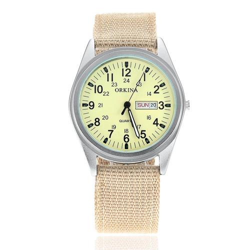 Militar Reloj Doble C Calendario Y Puntero Luminoso