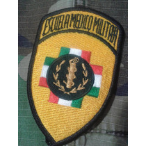 Parche Bordado Escuela Medico Militar México Amarillo/ Negro