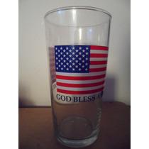 Vaso God Bless America United States Retro Usa Flag Bandera