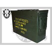 Caja Metálica De Municiones,militar,hermética,armystore Pue