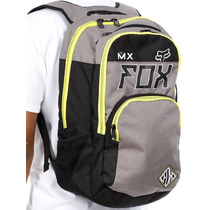 Mochila Fox Lets Ride Exhaust Gris Moto O Bici Laptop