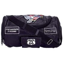 Maleta Backpack De Piel Equipaje Duffle Gym Motociclistas