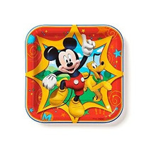 American Greetings Mickey Mouse Clubhouse 7 Square Plate 8