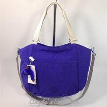 Bolsa De Kipling Azul Mod Gwendolyn Hm4
