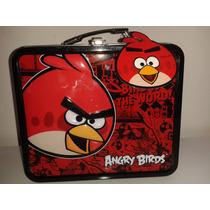 Lonchera De Metal Angry Birds! Navidad