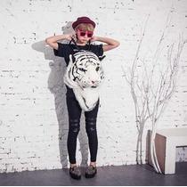 Mochila Cabeza De Tigre Moda Japon Pastel Goth Regalo Reyes