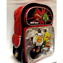 Mochila Rovio Angry Birds 16 Black & Red Backpack For Kids