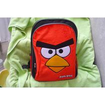 Mochila Grande Angry Bird Red Frente Afelpado