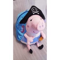 Mochilas De George Cerdito Vestido De Piratita, Peppa Pig