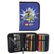 Estuche Escolar Lego City Police Original Con Material
