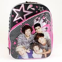 Mochila Escolar Backpack One Direction Stars Importada Vv4