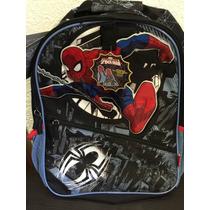 Mochila Spiderman Con Capucha Disney Store Original 40x30cm