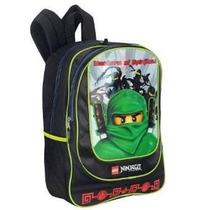Mochila Lego Ninjago 16 Pulgadas Mochila Verde Ninja - Negro