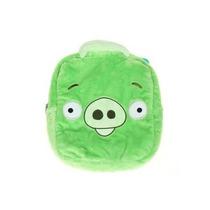Mochila Angry Birds De Felpa Verde