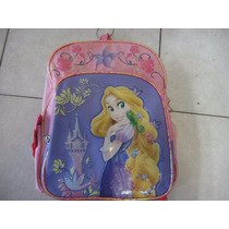 Mochila Chica Escolar Disney Princesas Original Rapunzel