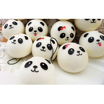 Panda Squishy Lote De 3 Kawaii Celular Llavero Set De 3