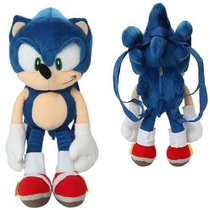 Mochila Sonic The Hedgehog Plush Back Pack De 18 Pulgadas