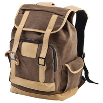 Mochila Tipo Morral Cafe Beige 15.6 Pulgadas Backpack Viaje
