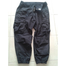 Pantalon Tactico Negro Tipo Swat Con Resorte
