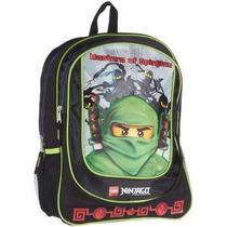 Mochila Lego 16 Inch Ninjago Backpack Green Ninja - Black [b