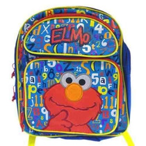 Mochila Sesame Street Elmo Red Medium Backpack Bag Tote