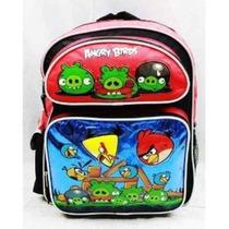 Mochila Angry Birds Large 16 \mochila - Metálico Azul Con Ta