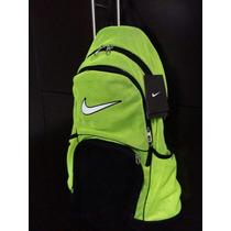 Mochila Nike Amarillo Fosforesente / Negro En Liquidacion!!!