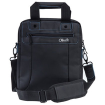 Mochila Messenger Olivee 10.2 Pulgadas Negro Backpack Viaje