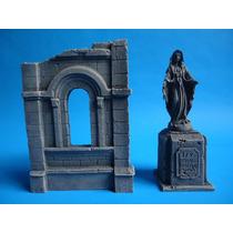 Modelismo Iglesia Y Estatua De Virgen Europea Escala 1/35