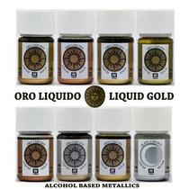 Pinturas Acrílicos Vallejo Oros Líquidos Liquid Modelismo