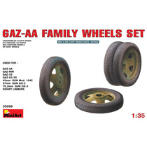 Modelo Neumáticos - Gaz-aa Familia Wheels Set 1:35 Miniart