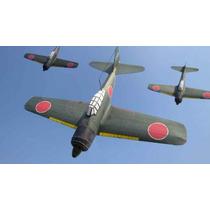 Avión Militar Mitsubishi Zero Modelo Que Vuela Armar Papel