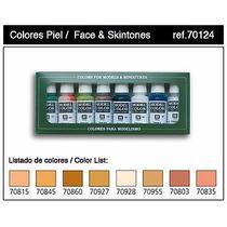 Set De Tonos Piel 8 Pinturas Model Color Acrilicos Vallejo