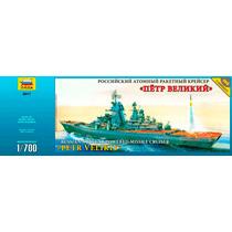 Barco Ruso Nuclear Petr Velikiy Esc. 1/700 Zvezda Nuevo!