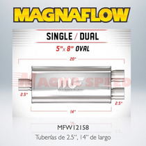 Silenciador Deportivo Magnaflow 12158 1 X 2, 5 X 8 X 14
