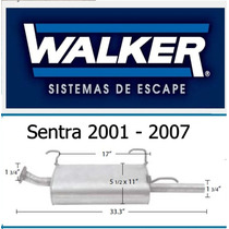 Silenciador Sentra Walker 2001 - 2007 Quiet Flow Ss # 53301