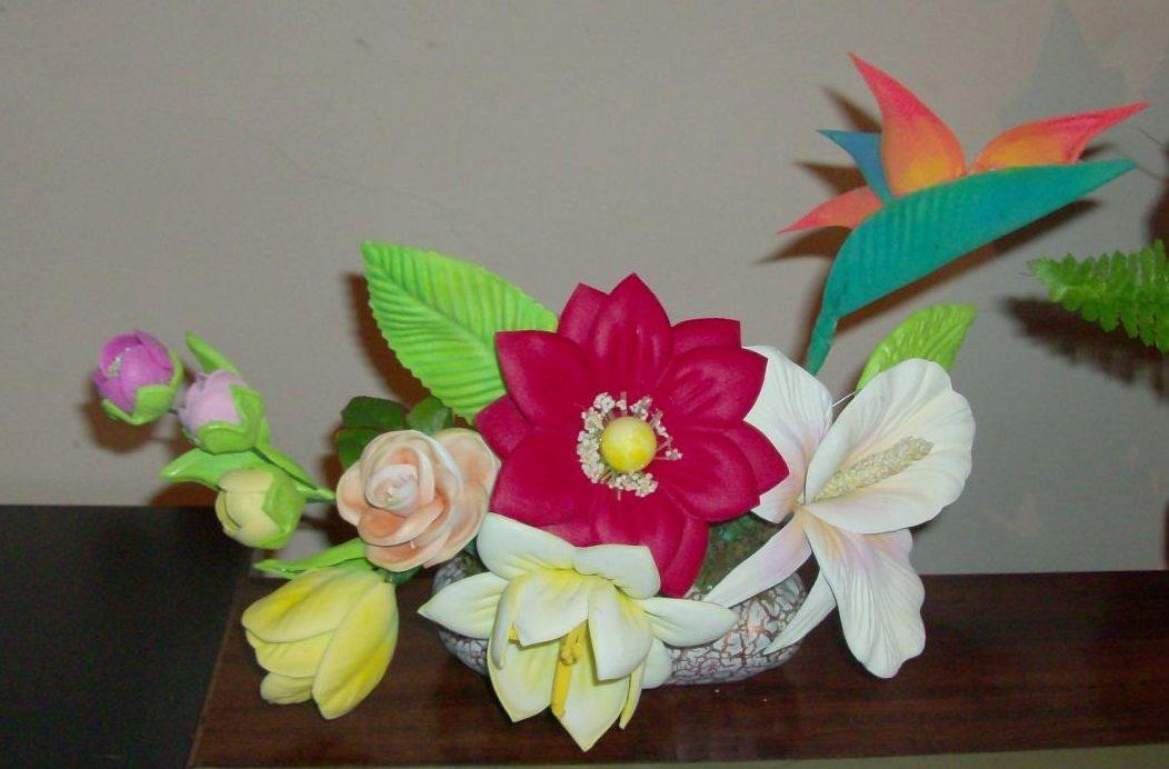 Flores de fomi con moldes car interior design