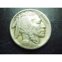 Usa 5 Centavos Indios Fecha 1918 Niquel
