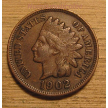 Moneda Centavo Cabeza De Indio 1902 Indian Head