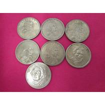 Lote 5 Monedas Dollar Sacawea Y 2 Presidentes