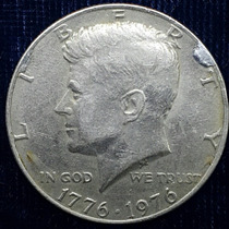 Tres Monedas Half Dollar Kennedy Conmemorativa 1776-1976