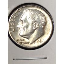 Moneda De 10 Centavos De 1964, Dime, Usa, D, Plata