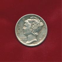 One Dime 1943 Ceca S · Plata 0.900