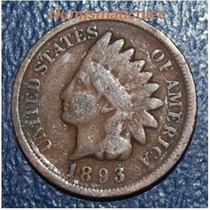 Moneda Centavo Cabeza De Indio 1893 Indian Head