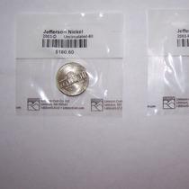 U.s.a. Jefferson Nickels (5 Cents.) P & D. 2003 B.u.