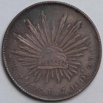 Aaaa 1890 8 Reales Zs Rara Moneda Mexicana Peso Au Plata Cf3