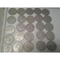 Monedas De Cinco Pesos De Varios Periodos