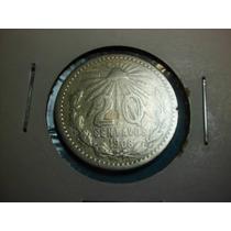 Moneda 20 Centavos Fecha Muy Escasa 1908