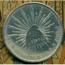1 Peso M° 1908 G.v 27.07 G 0.903 Plata 0.78 Oz